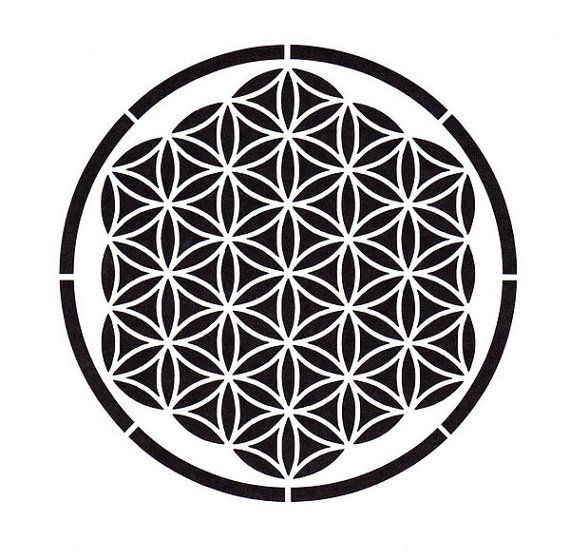 Flower Of Life Stencil, Sacred Geometry, Ancient Symbols, Mylar Stencil, Painting Stencil, pochoir, art supply stencil, hexagon, mandala