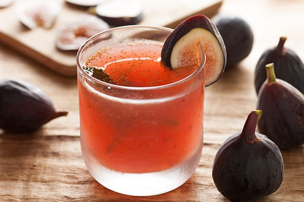 The Flying Fig -- mudded figs in elderflower liqueur with vodka, lots of lemon juice, and agave nectar