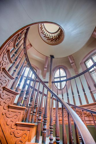 Staircase inside the Hay House, Macon GA. Photo by by James Davidson