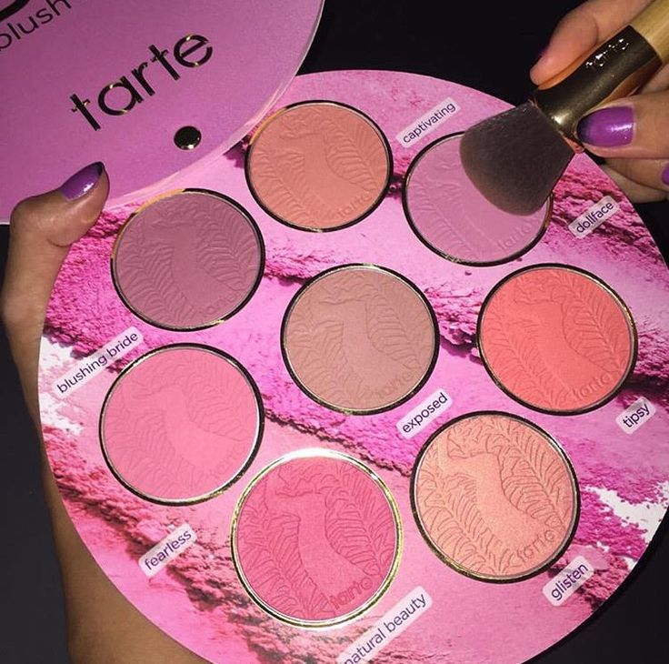 How adorable is this blush palette from tarte?! Such makeup products always make me so happy! ♡