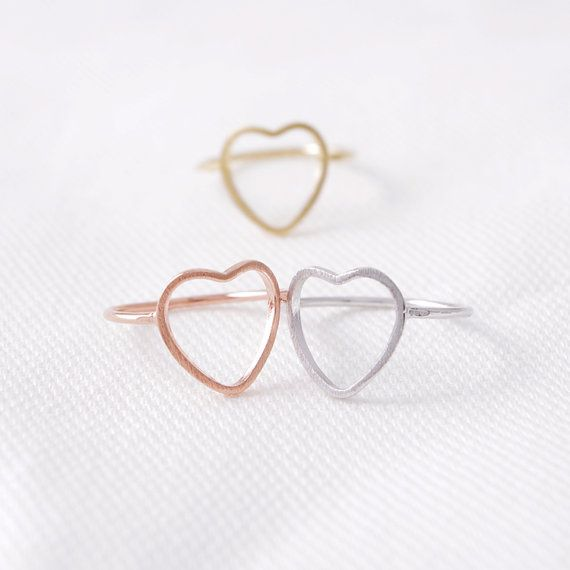 Love open Heart Top of Finger old ring designs yellow gold ring 1 gram gold ring price in dubai