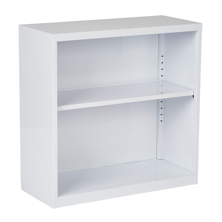 OSP Designs Metal Bookcase in White Finish, Ships fully Assembled.