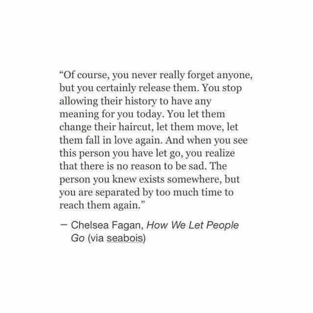 How we let people go