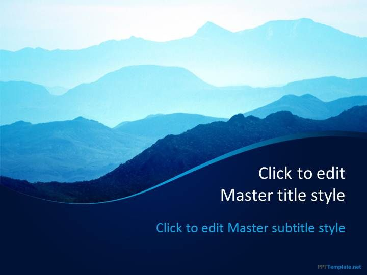 Free Mountains PPT Template with awesome background