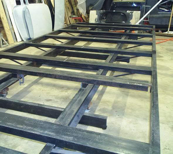 Made from c channel to provide places to clamp to - Plan fabrication table ...
