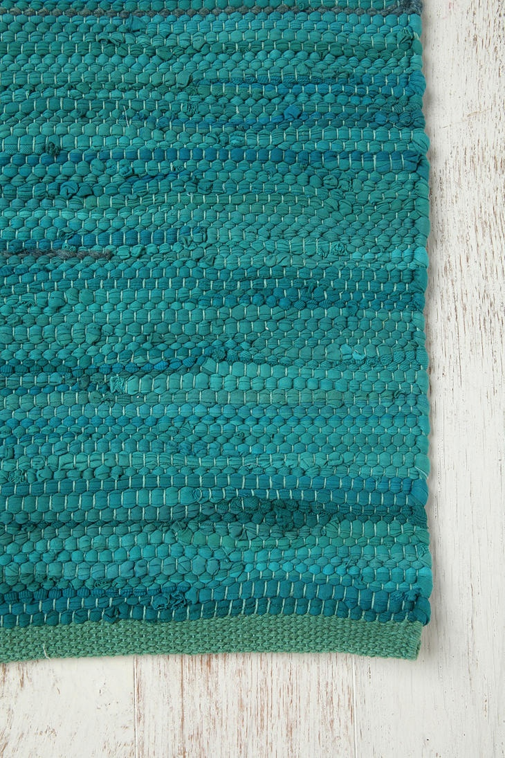 Aqua bathroom rugs - Turquoise Rag Rug Aqua Rugblue Rugsbathroom