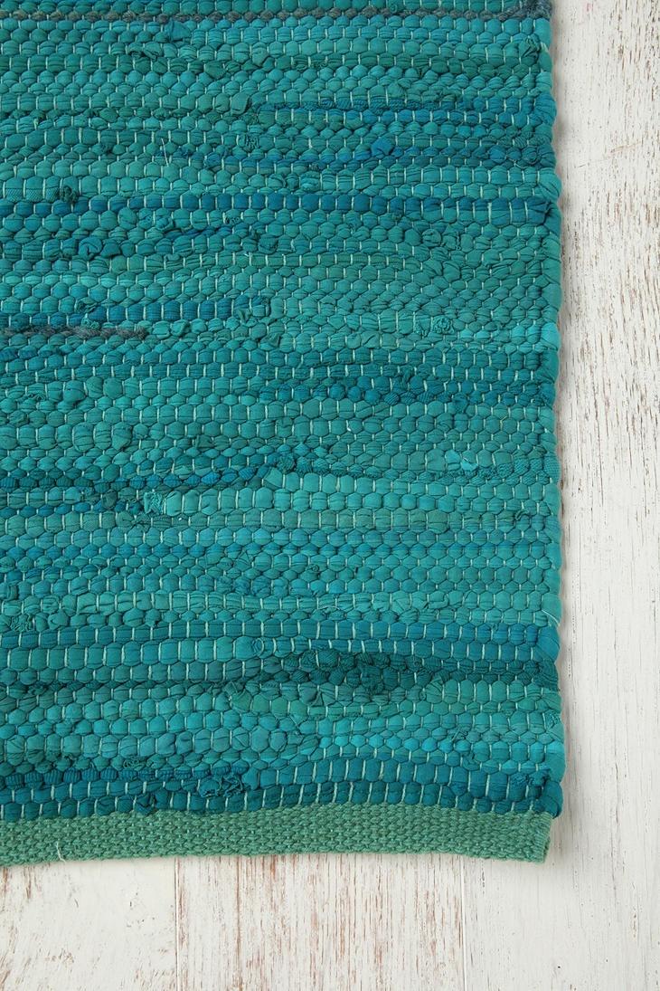 Turquoise Rag Rug