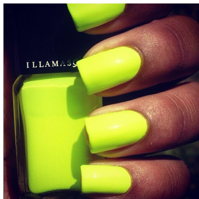 Neon Yellow Green Nails