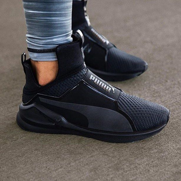 Puma Fierce Quilted: All Black