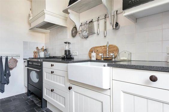 nostalgische witte keuken