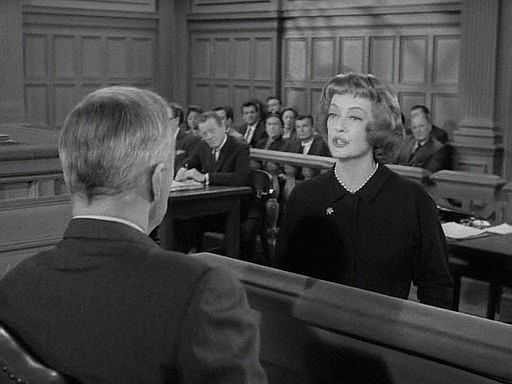 When Raymond Burr was recuperating from an operation, he was replaced temporarily on Perry Mason by several special guest defense attorneys.  Here's Bette Davis in The Case of Constant Doyle (1/31/1963).