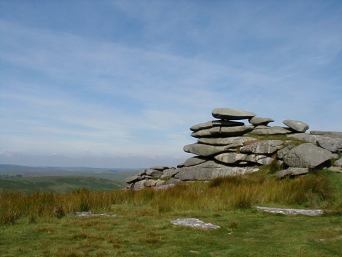 Rough Tor, pronounced router.  Wild ponies and views!