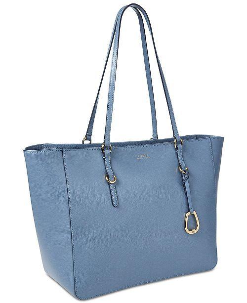 502bf66a0 Lauren Ralph Lauren Bennington Leather Tote - Lauren Tan/Gold in 2019 |  Handbags | Handbag accessories, Purses, handbags, Leather