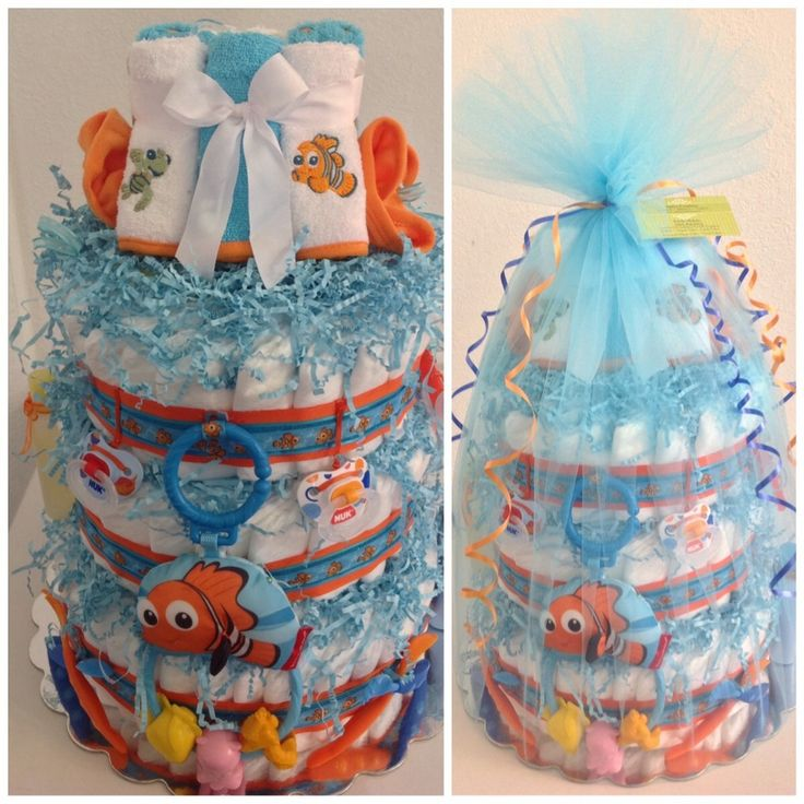 Image of Finding Nemo Diaper Cake