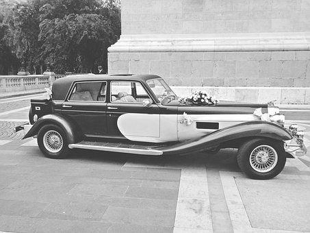Svatba, Auto, Svatební Auto
