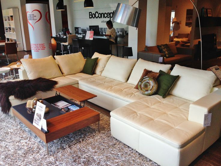 Boconcept Couch Featuring The Stunning Mezzo In White Salto Leather With