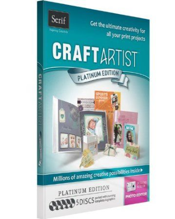 CraftArtist Platinum Edition is the all-in-one tool for creating any type of print project. Youll be amazed by how easy the software is to use thanks to its simple drag-and-drop function, plus the incredible content included will surpass all your expectations! There are 5 discs packed with templates, graphics and the incredible Craft Artist software - perfect for creating cards, invitations, scrapbooks and loads more at home.  Price: $25.00