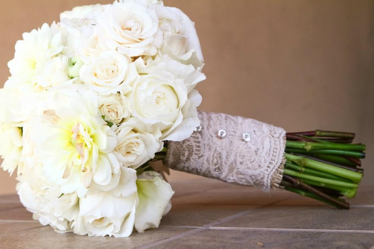 Burlap and lace Bouquet....Blooming Elegance Arizona: Lace Bouquet