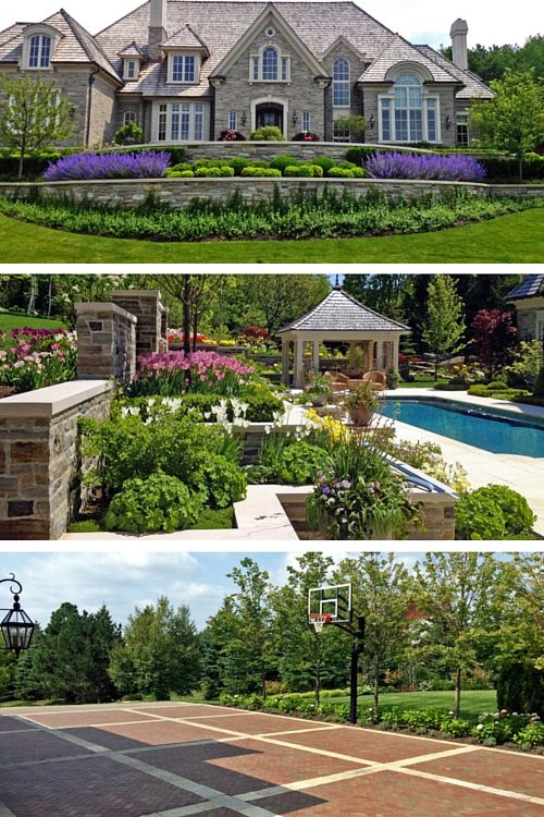 This magnificent estate home nestled atop a gently sloping partially wooded 4 acre lot features large planting beds filled with countless established spaded large trees, container shrubs, evergreens & perennials. All stonework surfaces including the driveway were installed with an automated snow melt system. Close to fifty thousand bulbs were planted to naturalize throughout the gardens and numerous planters are planted four times a year to add colour and seasonal interest.