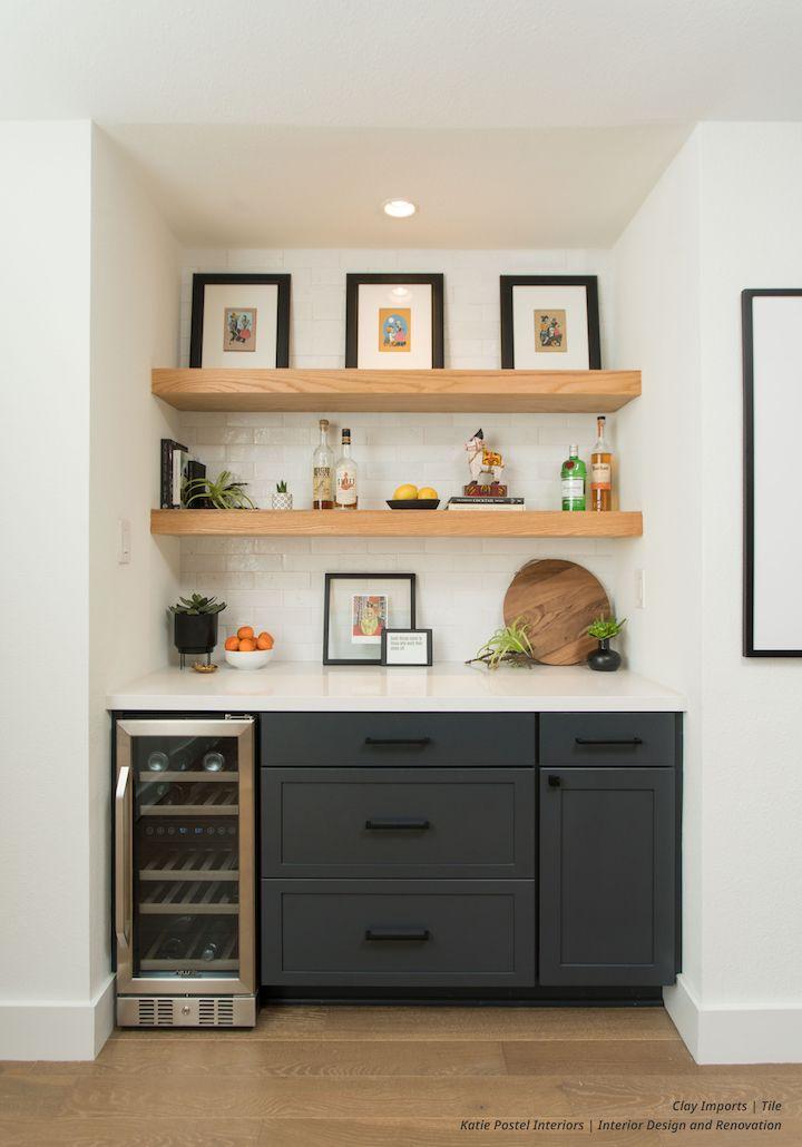 Subway Tile Glazed Thin Brick White Gloss Clay Imports Home Bar Designs Home Wet Bar Home Kitchens