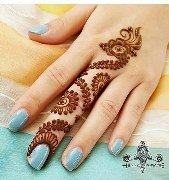 Unique edgy mehndhi henna