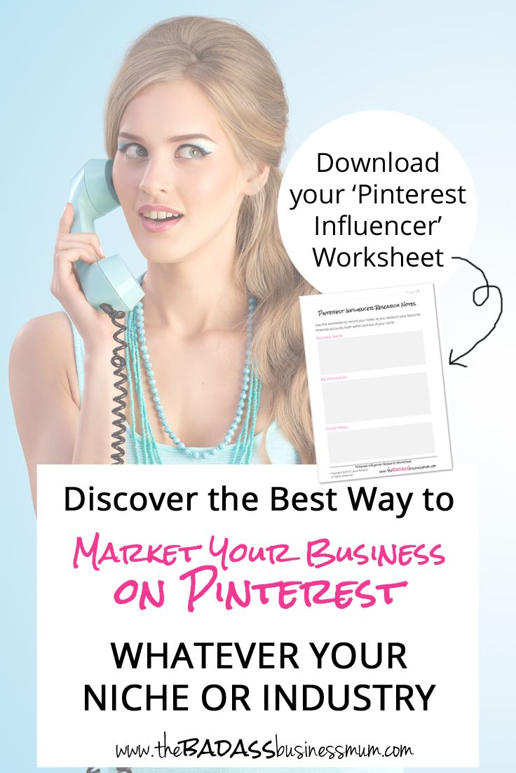 Find out the Best Way to Market your Business on Pinterest, whatever your niche or Industry by carrying out Pinterest Influencer Market Research