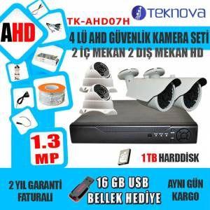 4 Kamera Ahd Güvenlik Sistemi  Full tak çalıştır hazır güvenlik kamera sistemi