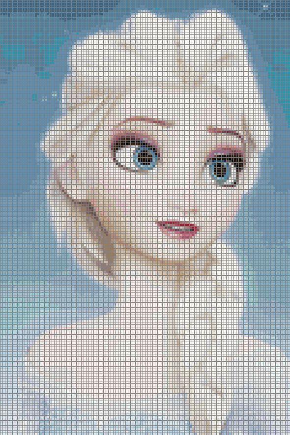 Disney Frozen Elsa Cross Stitch Pattern par BrennaInWonderland