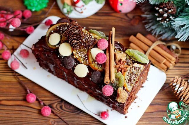 Рождественский шоколадный кекс - кулинарный рецепт