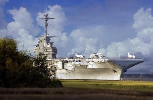 The USS Yorktown, docked at Patriots Point in Mount Pleasant, was the tenth aircraft carrier to serve in the United States Navy. The ship was commissioned on April 15, 1943 and was a key player in the Pacific Offensive that defeated Japan in 1945.
