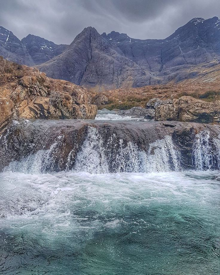 Fairy Pools filling quickly on the Isle of Skye