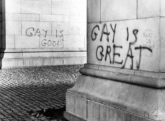 Queer Graffiti, Washington Square Park, NYC (1970)