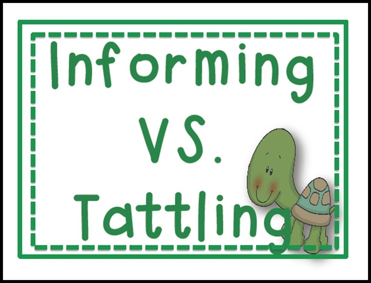 Tattling vs Informing Free Lesson Plan - tattling printable