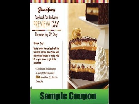 Free Printable Cheesecake Factory Coupons Updated Available August 2015 - (More info on: http://LIFEWAYSVILLAGE.COM/coupons/free-printable-cheesecake-factory-coupons-updated-available-august-2015/)