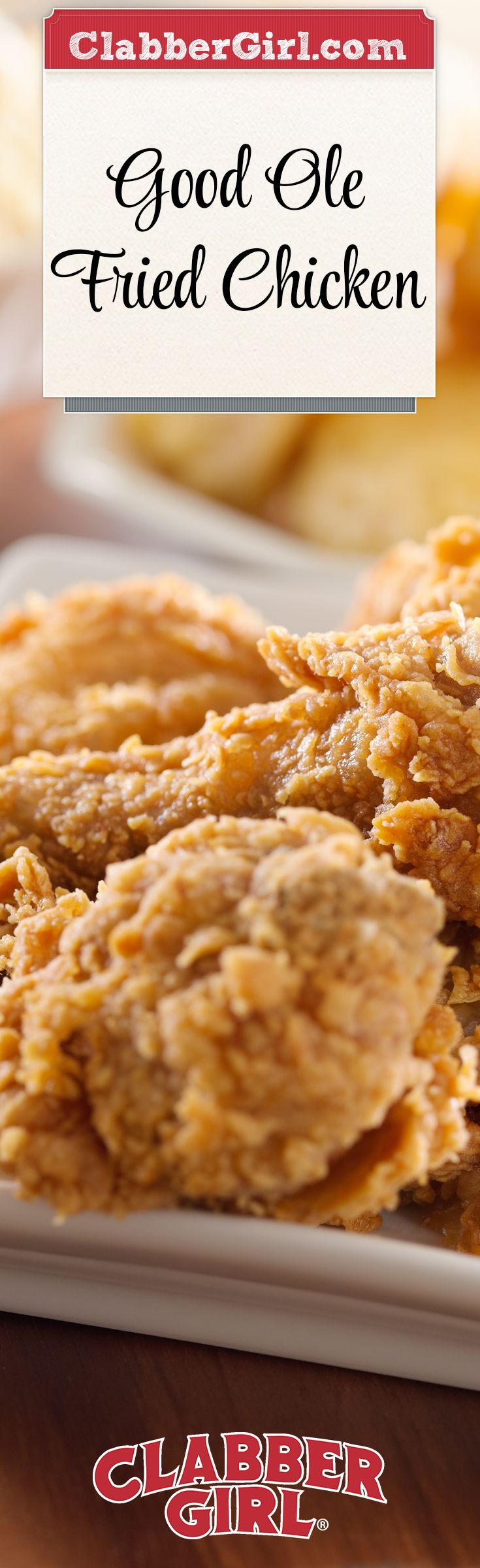 This fried chicken come out moist with a crispy crust; it's the ideal old fashioned recipe that has withstood the test of time.