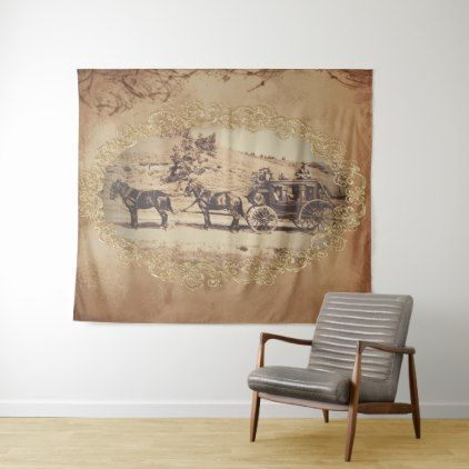 Old stagecoach photo tapestry - photos gifts image diy customize gift idea