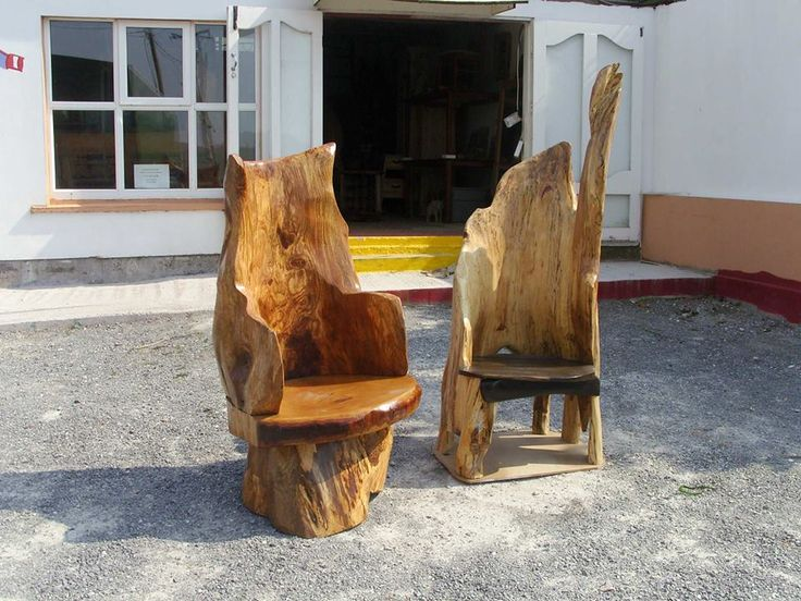 So beautiful!! Left chair made from Birr Elm with an Oak seat.. Right chair made from Spalted Beech with a Bog Oak Seat