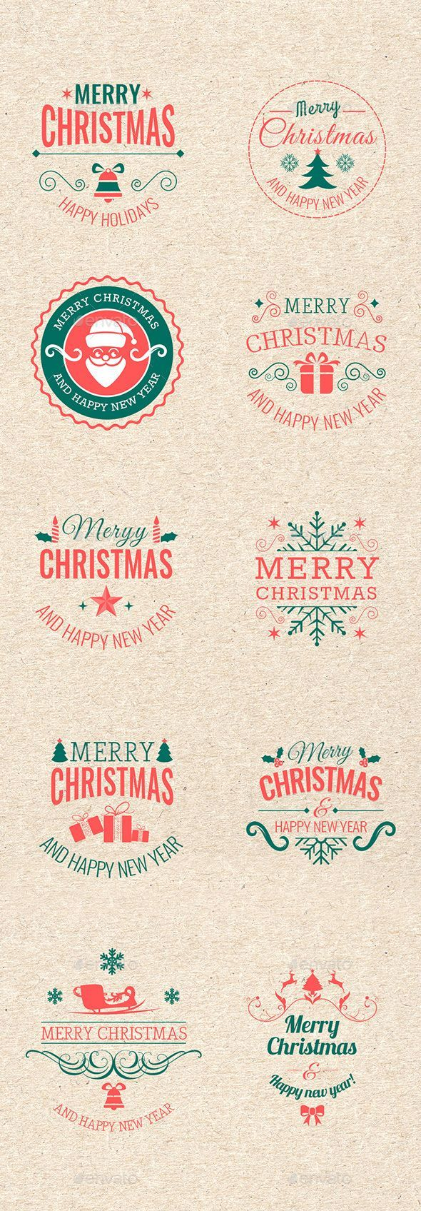 Christmas Badges #design Download: http://graphicriver.net/item/christmas-badges/13743118?ref=ksioks