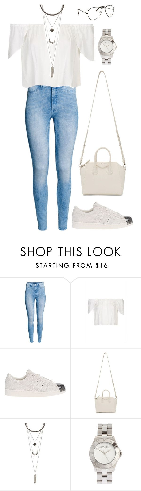 """""""Sans titre #1213"""" by frenchystyle ❤ liked on Polyvore featuring H&M, Topshop, adidas Originals, Givenchy, Charlotte Russe and Marc by Marc Jacobs"""