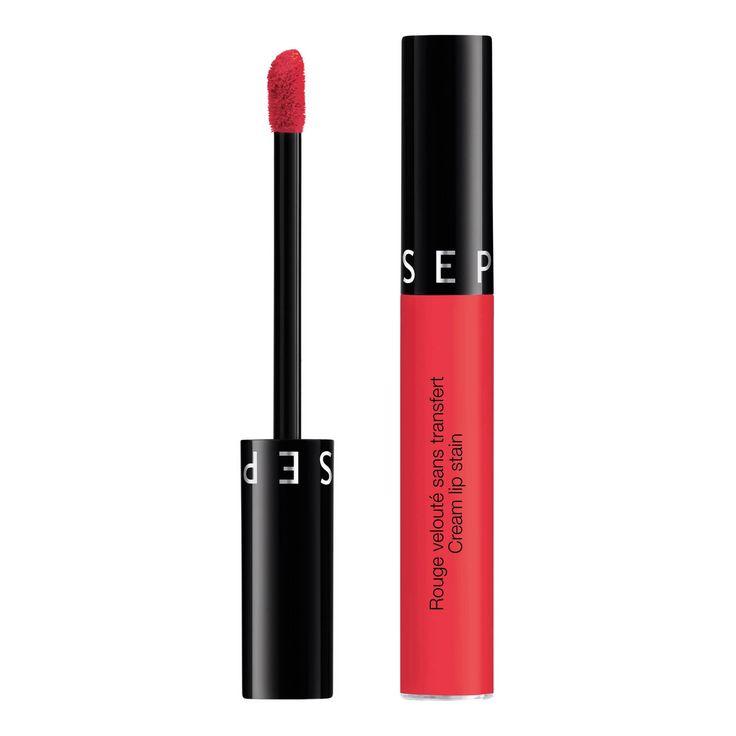 Rouge velouté sans transfert - Cream lip stain de Sephora sur sephora.fr : Toutes les plus grandes marques de Parfums, Maquillage, Soins visage et corps sont sur Sephora.fr