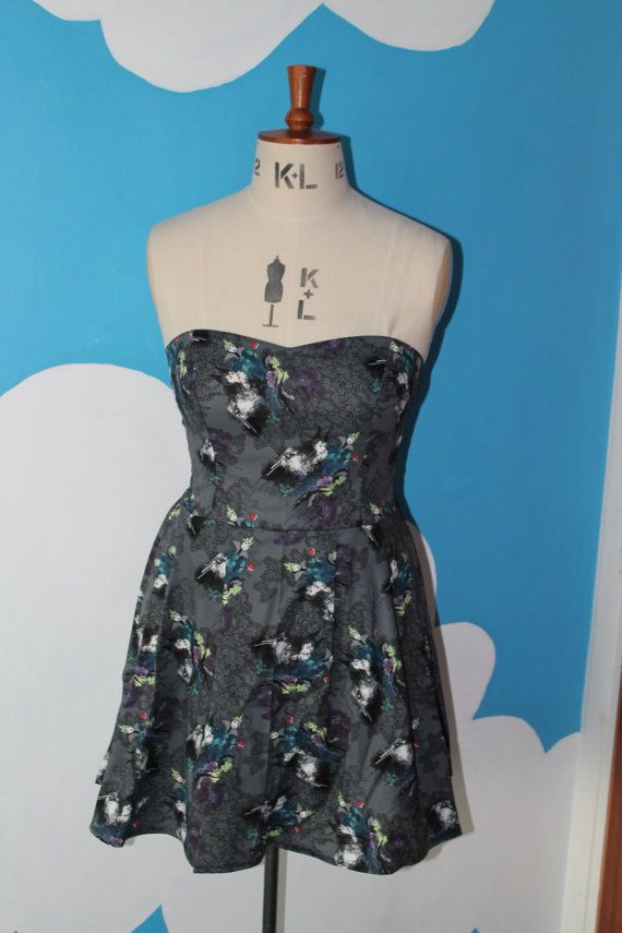 Hey, I found this really awesome Etsy listing at https://www.etsy.com/listing/188039040/grey-disney-villains-sweet-heart-dress