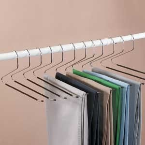 12 piece set of Jobar Slacks Hangers Open Ended pants Easy Slide Organizers by Jobar  Price:	$9.40
