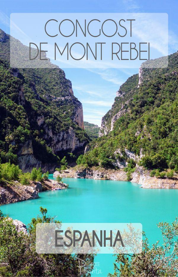 Congost de Mont Rebei é um canyon escondido no meio da Catalunha na Espanha. Com uma água de cor inacreditável é o destino perfeito para os amantes da natureza e para aqueles que curtem fazer trekking. Confira todas as dicas no blog. (scheduled via http://www.tailwindapp.com?utm_source=pinterest&utm_medium=twpin&utm_content=post185005479&utm_campaign=scheduler_attribution)