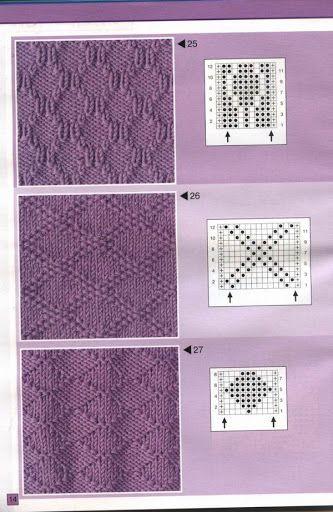 Узоры спицами, knit, knitting - Tatiana Alexeeva - Álbuns Web Picasa