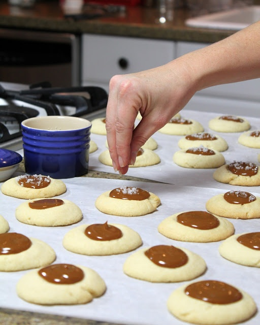Dulce de Leche and Nutella Thumbprints with Sea Salt — A Spicy ...