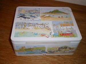 Emma Ball Cornwall Biscuit Tin With Choc Chip Shorties
