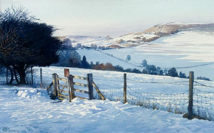 Ivinghoe Beacon : 31 x 50 cms SOLD by Brian Robinson