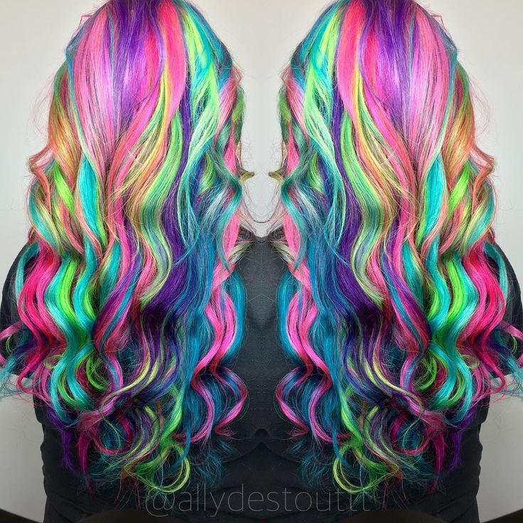 125 Best Rainbow Hair Images On Pinterest Multicolored