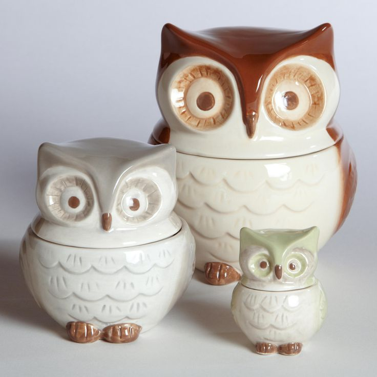 Vintage Owl Kitchen Decor: Owl Measuring Cups - 25 Fall Decorations Under $25