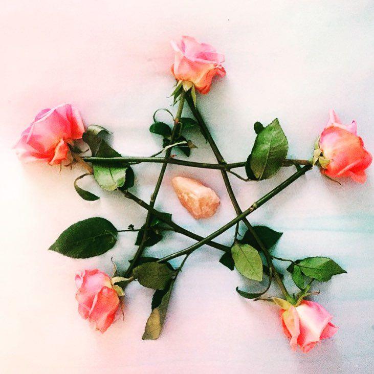 Rose Pentagram // Crystal Fairy Vibes